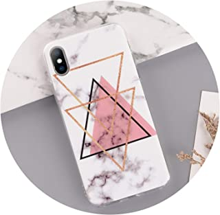 Tthappy76 Marble Case for iPhone Xs Max Xr Case Cover Silicone TPU Matte Cases for iPhone 8 7 Plus X 6 6S Plus 5 5S Se Luxury Case,T1,for iPhone 7