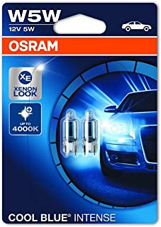OSRAM 2825HCBI-02B Cool Blue Intense W5W Halogen, License Plate Position Light, 12 V Passenger Car, Double Blister, Set of 2
