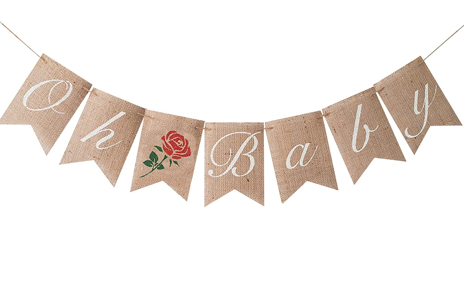 Rose Oh Baby famous Banner Shower Many popular brands or Gender Party Decor Reveal