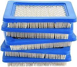 TOPINCN filtro de aire cortacésped para jardín y jardín herramientas de limpieza para Briggs y Stratton 491588 491588S 399959 John Deere PT15853 5 piezas