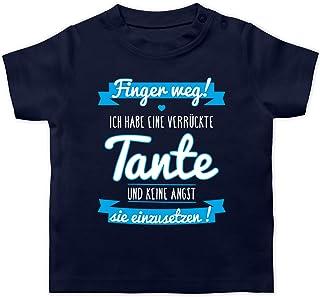 Shirtracer Sprüche Baby - Ich Habe eine verrückte Tante Blau - Baby T-Shirt Kurzarm