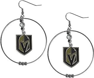 Siskiyou NHL Womens 2 Inch Hoop Earrings