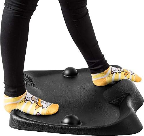 Giantex Standing Desk Anti-Fatigue Mat Not-Flat, Anti-Fatigue Comfort Floor Mat with 2 Massage Balls, Ergonomic Foot Massage Mat Floor Stand Up Desk Mat for Workstation Office Desk Kitchen (Black)