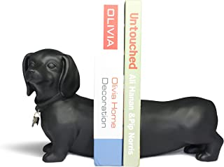 Danya B 2-Pc Dog Bookend Set in Black