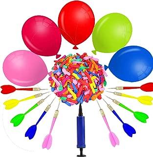 Pinowu Dart Balloon Game Set Includes 500 Balloons and 10 Darts Plus Pump – Jumbo Fun Set Water Balloon for Children & Adult Carnival Birthday Party & Backyard Fun