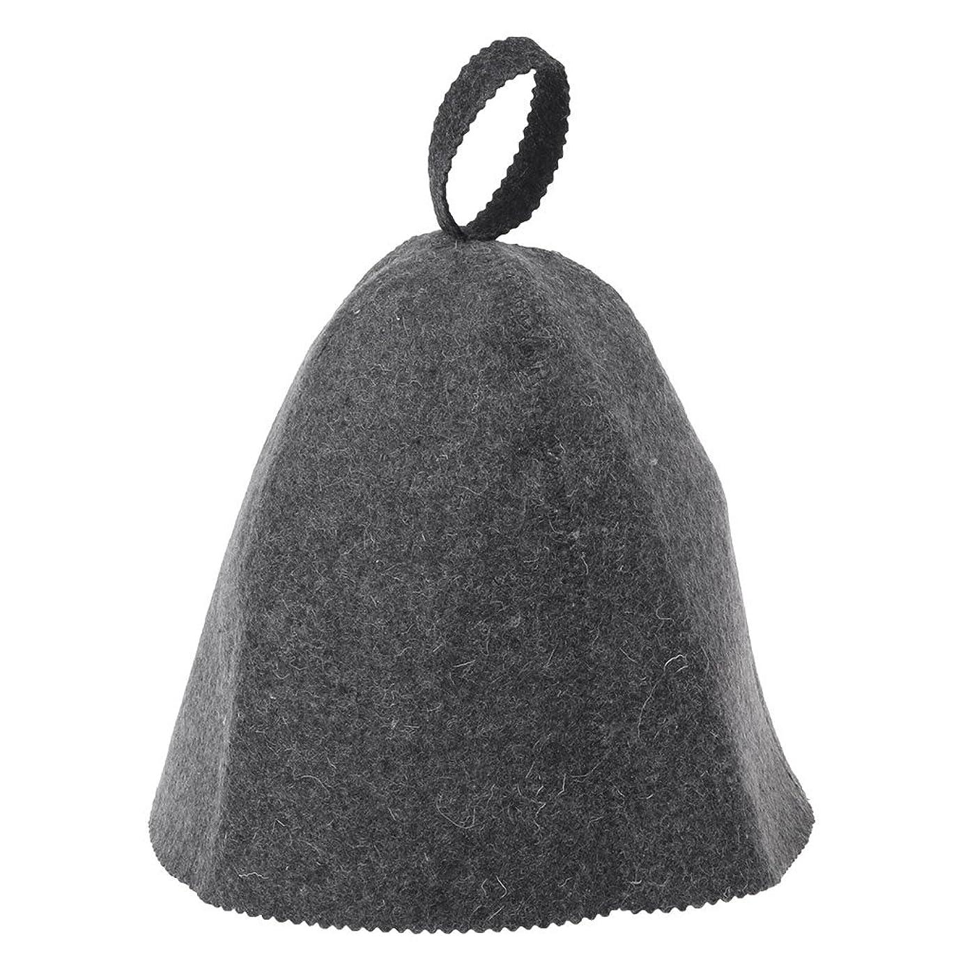 入手します地殻学部長LANDUMのウールのフェルトのサウナの帽子、浴室の家の頭部の保護のための反熱ロシアのバニヤ帽子
