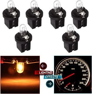 cciyu 6 pcs 509t T5 B8.5D Twist Halogen Light Bulbs 1.2W Replacement fit for Instrument panel Gauge Cluster Speedometer