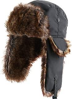 Unisex in pelliccia sintetica DISTINTIVO SOVIETICO RUSSO Trapper Cappello Colbacco Cosacco Flap