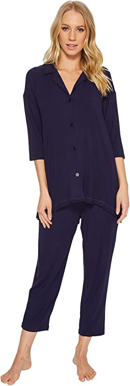 Modal Spandex Jersey Notch Pajama Set