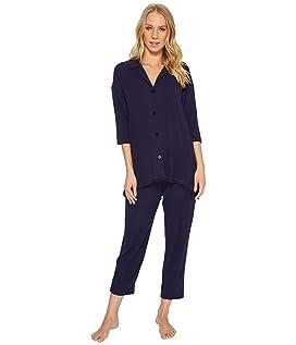 Modal Spandex Jersey Notch Pajama Set