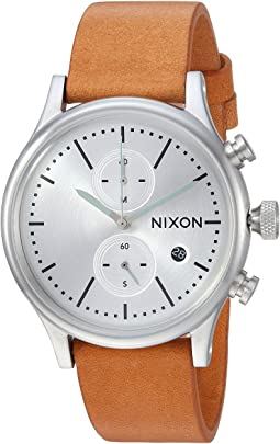 Nixon Station Chrono Leather