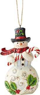 Enesco Jim Shore Heartwood Creek Snowmwan W/Candy Can Hanging Ornament