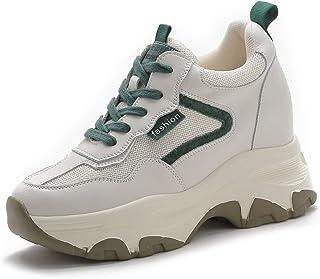 AONEGOLD Baskets Compensées Femmes Chaussure de Sport Fitness Casuel Sneakers Talon de 8