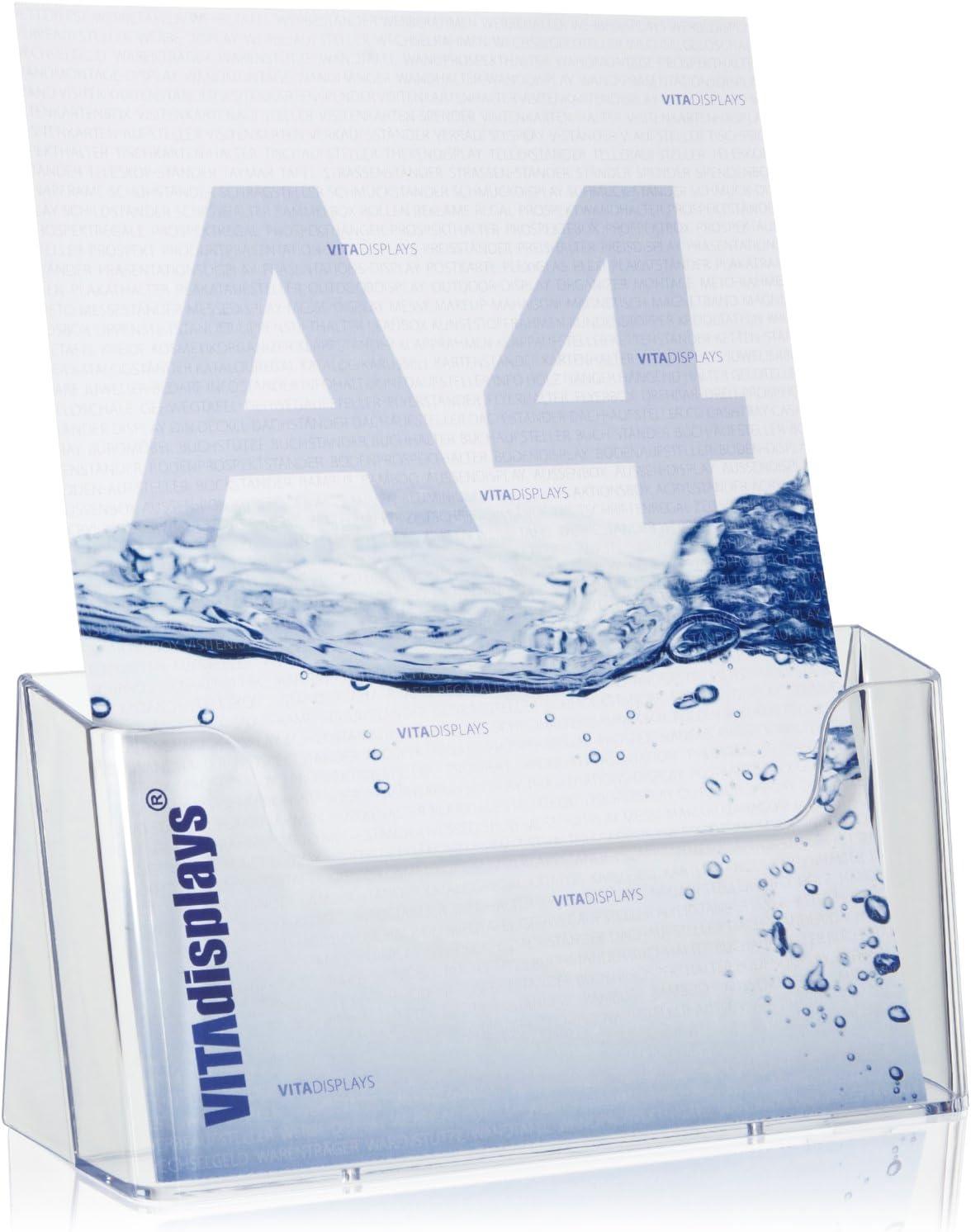 DIN A4 Soporte para folletos transparente VITAdisplays