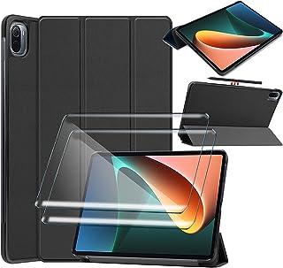"""Tasch HYMY etui do Xiaomi Pad 5 + 2 szt. folia ochronna szkło pancerne do Xiaomi Pad 5 11"""" etui - Flip Case Cover pokrowie..."""