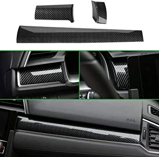 Thenice for 10th Gen Civic Dash Board Panel Dial Dashboard Cover Trims ABS Carbon Fiber Style Decal Center Console Moulding Stickers for Honda Civic 2020 2019 2018 2017 2016 - coolthings.us