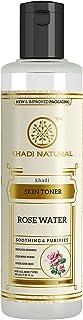 KHADI NATURAL Rose Water Herbal Skin Toner, 210ml