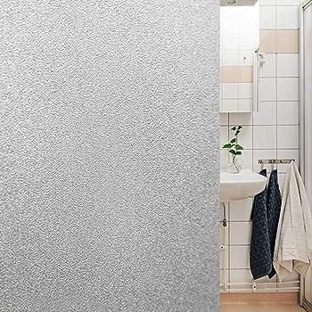 Lámina autoadhesiva de proteccion solar, traslúcido con efecto ácido arenado, para cristal, mampara, ventana, etc. Lamina de vinilo a granel. Medida: 50x120cm: Amazon.es: Hogar