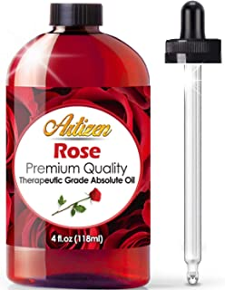 Artizen Rose Essential Oil (100% PURE & NATURAL - UNDILUTED) Therapeutic Grade - Huge 4oz Bottle - Perfect for Aromatherapy, Relaxation, Skin Therapy & More!