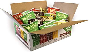 Kettle Brand Potato Chips Variety Pack, Sea Salt, New York Cheddar, Backyard Barbeque and Jalapeno, 30 Count