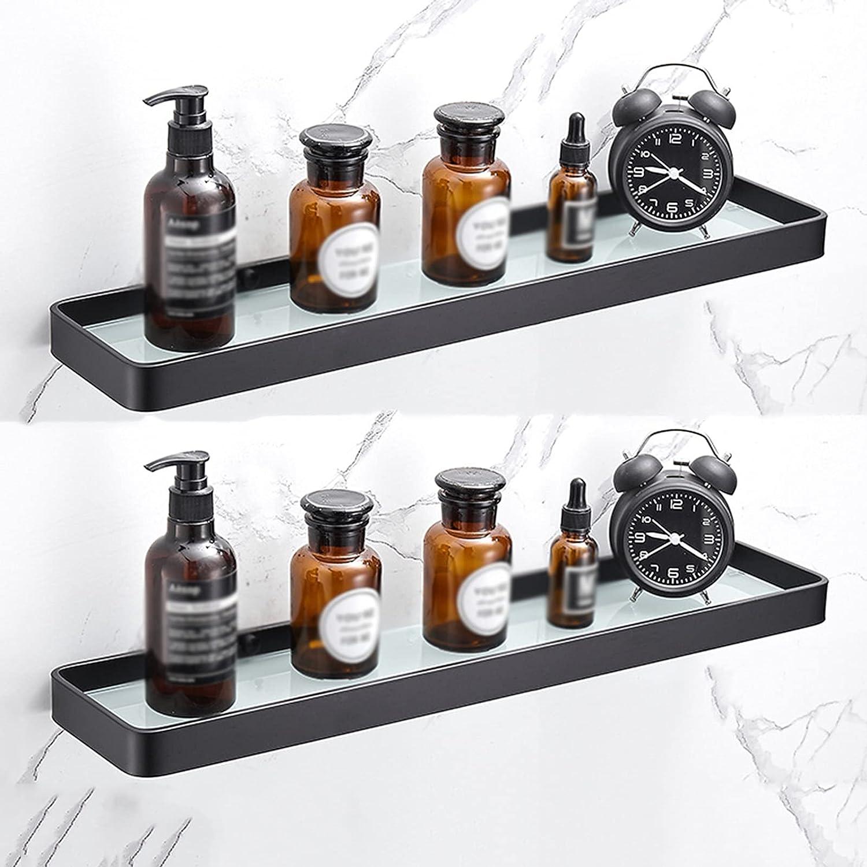 Bathroom Glass Shelf Outlet SALE Japan's largest assortment Space Shelves Wall Aluminum Moun