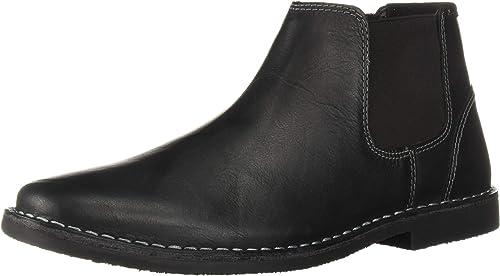 Steve Madden Men& 039;s HUEGO Chelsea Stiefel, schwarz Leather, 12 M US