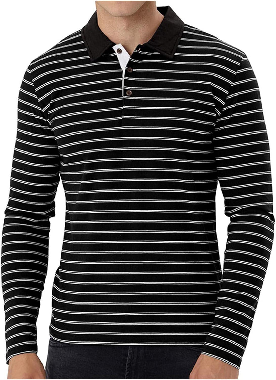 FORUU Men's Long Sleeve Henley Shirt,2021 Classic Fit Button Lapel Shirt Casual Sports Sweatshirts Cute Work Shirts