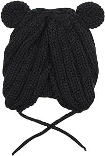 Bolley Joss Cute Bear Ear Winter Knitted Hat for Baby Warm Knit Crochet Earflap Beanie Hat for Toddler