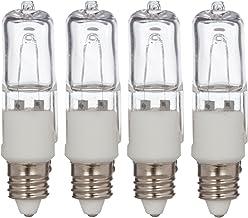 Simba Lighting Halogen E11 T4 100 Watt 1100lm 120 Volt Light Bulb (4 Pack) for Chandeliers, Pendants, Table Lamps, Cabinet...