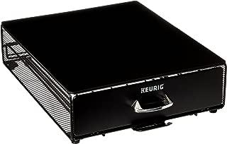 Keurig Under Brewer Storage Drawer, Coffee Pod Storage, Holds up to 35 Keurig K-Cup Pods, Black
