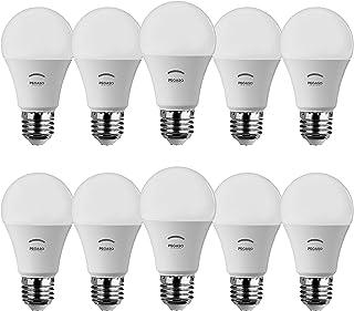 Pegaso - Juego de 10bombillas LED en forma de gota A60, casquillo E27, luz natural 4000Kº