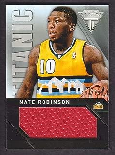 2013-14 Panini Titanium Basketball Titanic Jersey Jumbo #40 Nate Robinson 134/299 Nuggets