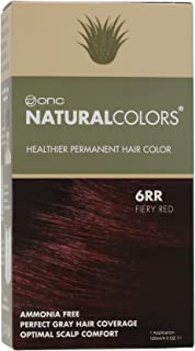 ONC NATURALCOLORS 6RR Fiery Red Healthier Permanent Hair Color Dye 4 fl. oz. (120 mL) with Certified Organic Ingredients, ...