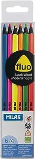Milan 752306 - Lápices, 6 unidades, color fluorescente, multicolor