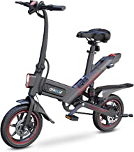 Gyroor C3 Electric Bike for Adults, 450W eBike with 18.6MPH up to 28 Mileage, 14in Air-Filled Tires, Dual Disc Braking, 3 ...