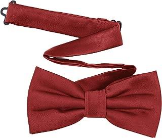 TINYHI Men's Pre-Tied Satin Formal Tuxedo Bowtie Adjustable Length Satin Bow Tie