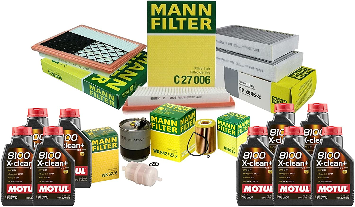9L 8100 X-CLEAN 5W30 Oil Filter Cheap bargain Service kit Compatible W211 Max 46% OFF with