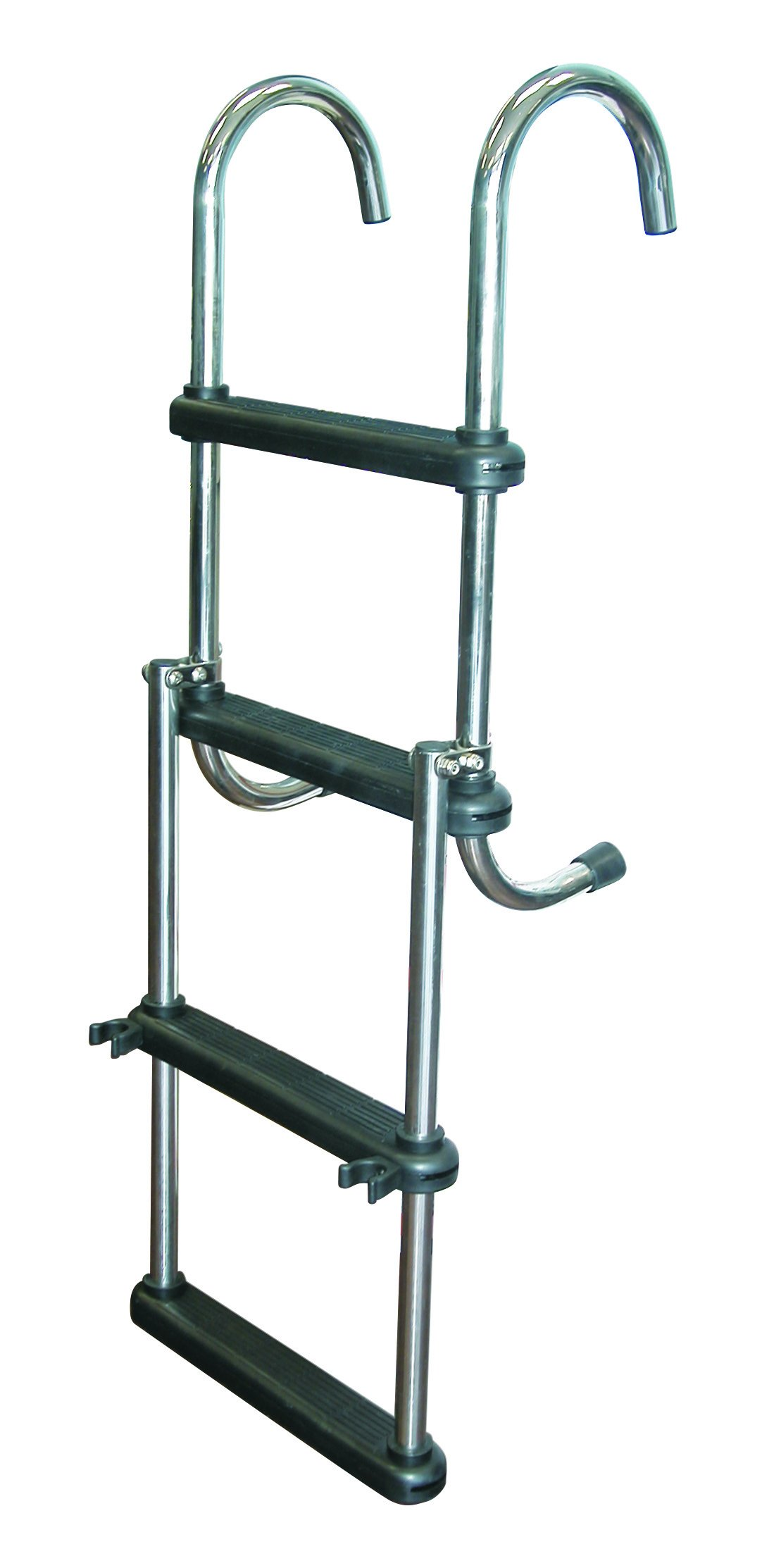 JIF MARINA 4 paso escalera plegable de extraíble, acero inoxidable 316 pontón & casa barco escaleras: Amazon.es: Deportes y aire libre