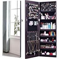 AOOU Jewelry Organizer Jewelry Cabinet,Full Screen Display View Larger Mirror, Full Length...
