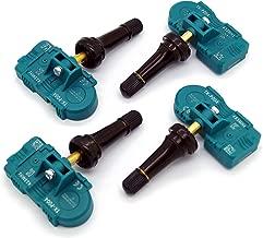 MOBILETRON 4-Pack 433MHz TPMS Tire Pressure Monitoring System Sensors (Snap-in) Pre-Programmed for Audi/Bentley/Aston Martin/BMW/Ferrari/Lamborghini/Maserati/Mini/Porsche | TX-S003-SN-4