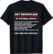 HEY SNOWFLAKE In the REAL World You are Not Special | Funny T-Shirt