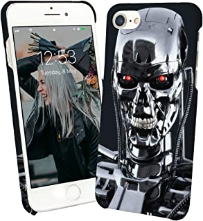 Terminator Robot Metal Futuristic_003978 Phone Case Cover Hard PC Cover for Protection Compatible with for iPhone 8 Plus Plus Funny Gift Christmas