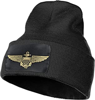 Naval Aviator Pilot Wings Warm Winter Knit Hats,Skull Cap,Beanie Cap