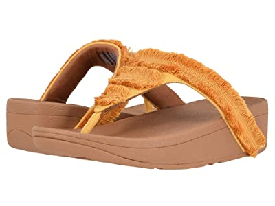 FitFlop Lottie Fringe (Baked Yellow/Chipmunk) Women