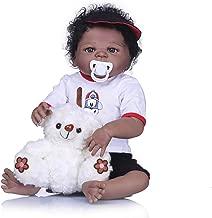 Full Body Silicone Reborn Baby Doll African American Girl Newborn Biracial Doll