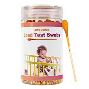 MPEDOUR Lead Paint Test Kit with 60 Testing Swabs for Home All Painted Surfaces, Ceramics, Dishes, Metal, Wood Instant Test Results in 30 Seconds