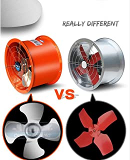 INTBUYING 220V 14inch Explosion-Proof Axial Fan Cylinder Pipe Fan for Kitchen Warehouse and Workshop Stainless Steel