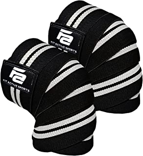 Fit Active Sports Knee Wraps for Weightlifting,...