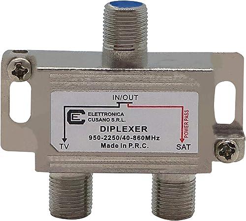 Electrónica Cusano UV40 Mezclador Antena Satélite y Terrestre, Gris