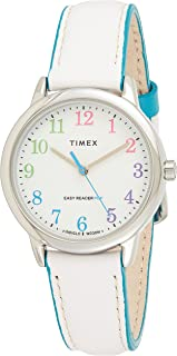 Timex Easy Reader Color Pop 30mm Leather Strap Watch For Women